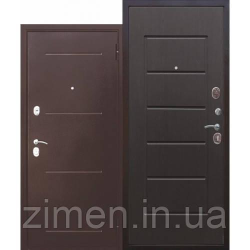 Входная дверь 7,5 см Гарда Медный Антик/Белый ясень (Венге)
