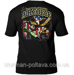 Футболка  мужская патриотическая  U.S. Air Force  'Fighting Eagle'  Боевой орёл  7.62 Design Men's T-Shirt
