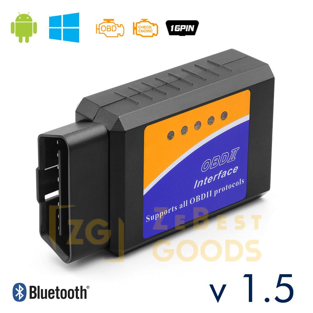 Автосканер ELM327 v1.5 OBD2 Bluetooth чіп PIC18F25K80 оригінал
