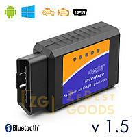 Автосканер ELM327 v1.5 OBD2 Bluetooth чіп PIC18F25K80 оригінал, фото 1