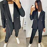 Жіночий костюм двійка з піджаком і брюками, фото 3