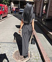 Женское модное летнее платье на запах в горох (Норма), фото 9