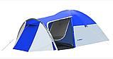 Походная двухслойная палатка 3-х местная для отдыха на природе Presto Acamper MONSUN 3 PRO синяя - 3500мм, фото 3