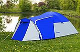 Походная двухслойная палатка 3-х местная для отдыха на природе Presto Acamper MONSUN 3 PRO синяя - 3500мм, фото 2
