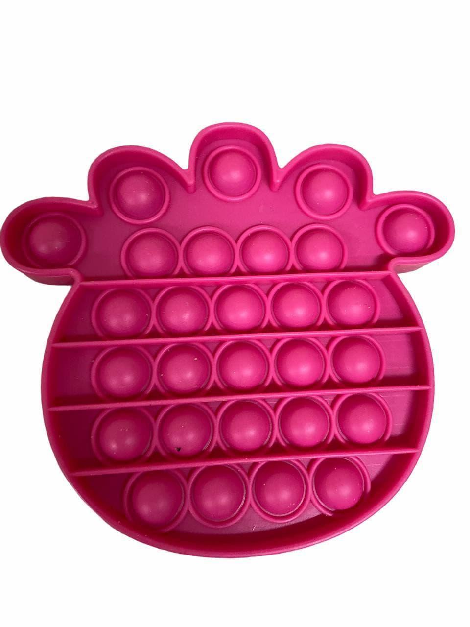 Сенсорна іграшка Pop It антистрес, ананас вишнева Push Bubble Fidget Antistress Нескінченна Пупырка