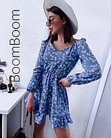 Нежное женское платье в цветочный принт из софта (Норма), фото 2