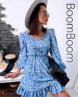 Нежное женское платье в цветочный принт из софта (Норма), фото 3