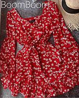 Нежное женское платье в цветочный принт из софта (Норма), фото 5