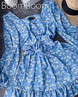 Нежное женское платье в цветочный принт из софта (Норма), фото 6