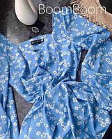 Нежное женское платье в цветочный принт из софта (Норма), фото 7