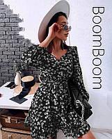 Нежное женское платье в цветочный принт из софта (Норма), фото 8