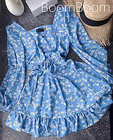 Нежное женское платье в цветочный принт из софта (Норма), фото 9