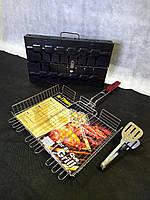 Набор мангал 8 + решетка большая 40*35+ щипцы в подарок.