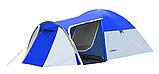 Походная туристическая палатка 4-х местная для отдыха и туризма Presto Acamper MONSUN 4 PRO синий - 3500мм, фото 3