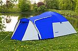 Походная туристическая палатка 4-х местная для отдыха и туризма Presto Acamper MONSUN 4 PRO синий - 3500мм, фото 2