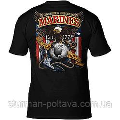 Футболка чоловіча патріотична USMC 'Fighting Eagle' Бойовий орел 7.62 Design men's T-Shirt
