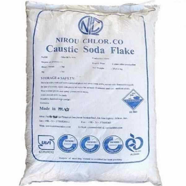 Сода каустическая (гидроксид натрия, натр едкий) чешуированная в мешках, 25 кг