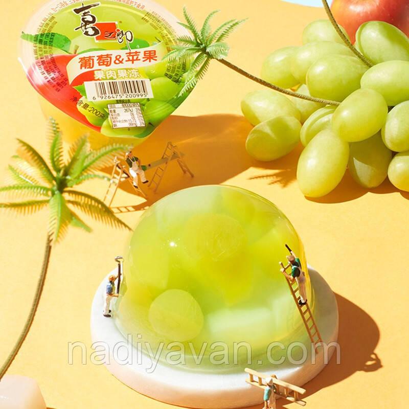 Фруктовое желе виноград и яблоко  200г