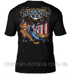 Футболка  мужская патриотическая US Navy  'Fighting Eagle'  Боевой орёл  7.62 Design Men's T-Shirt