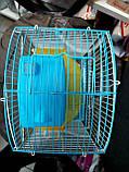 Клетка для хомяка средняя (2 уровня) крыша овал (23*17*32см), фото 4