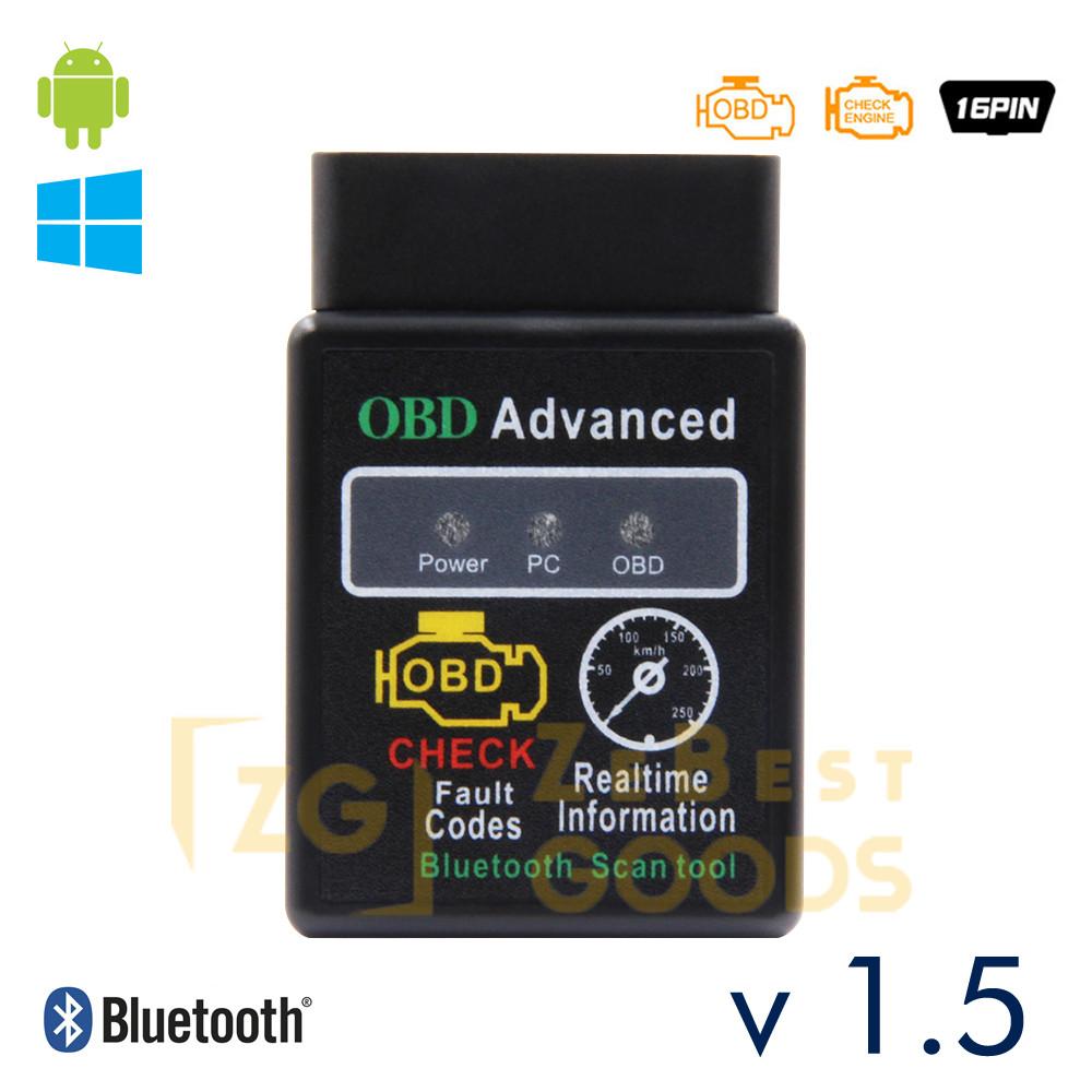 Сканер для диагностики авто ELM327 v1.5 OBD2 Bluetooth чип PIC18F25K80 оригинал