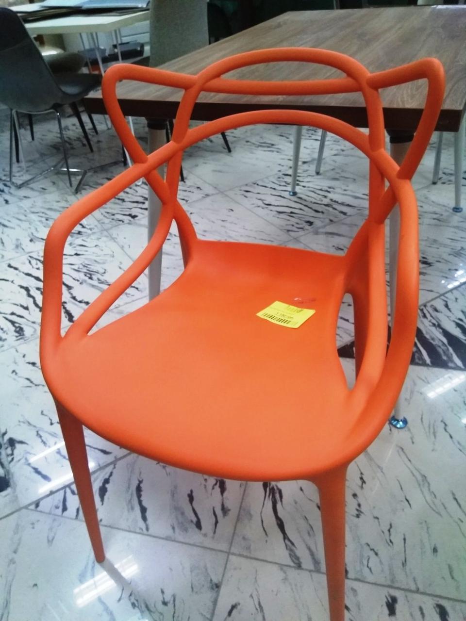 Стул пластик Bari (Бари) оранжевый, штабелируемый