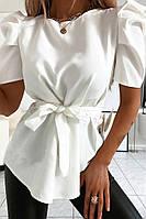 Стильна блуза з короткими рукавами ліхтарик