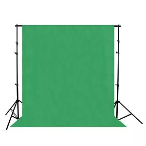 Фон для фото, фотофон тканевый Зеленый хромакей (150 см.×300 см.)