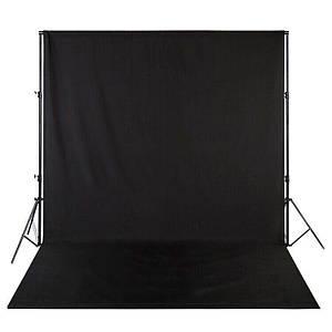 Фон для фото, фотофон тканевый Чёрный (150 см.×300 см.)