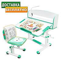 Детский стул-стол / Растущая парта Evo-kids BD-10 с лампой