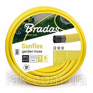 """Шланг для поливу  SUNFLEX   3/4"""" - 25м Bradas Польща жовтий WMS3/425"""