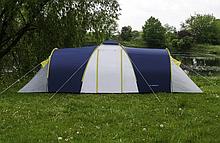 Большая туристическая палатка 6-х местная для отдыха и туризма Presto Acamper NADIR 6 PRO синяя - 3500мм