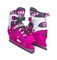 Коньки раздвижные Scale Sport Pink р 38-41