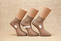 Мужские носки средние с хлопка в сеточку МАРЖИНАЛ. 40-45 темно бежевый