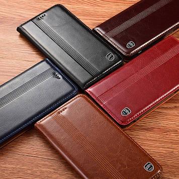 "Чохол книжка з натуральної шкіри магнітний протиударний для Samsung Note 10+ N975 ""ITALIAN"""