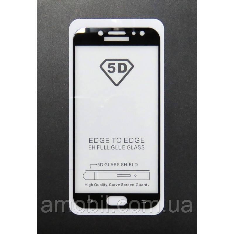 Захисне скло 21D Samsung J730 2017 full glue black