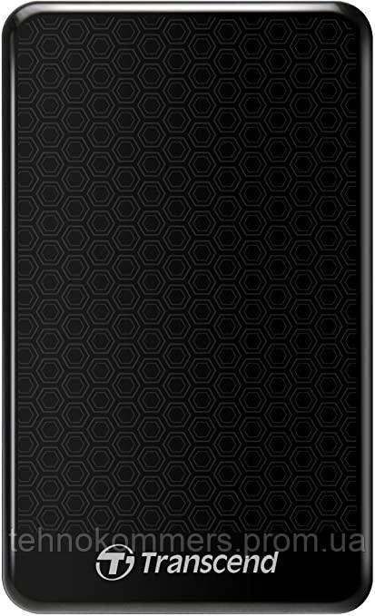 """Жорсткий диск зовнішній Transcend USB 3.0 StoreJet 25A3K 1TB 2,5"""" Чорний"""