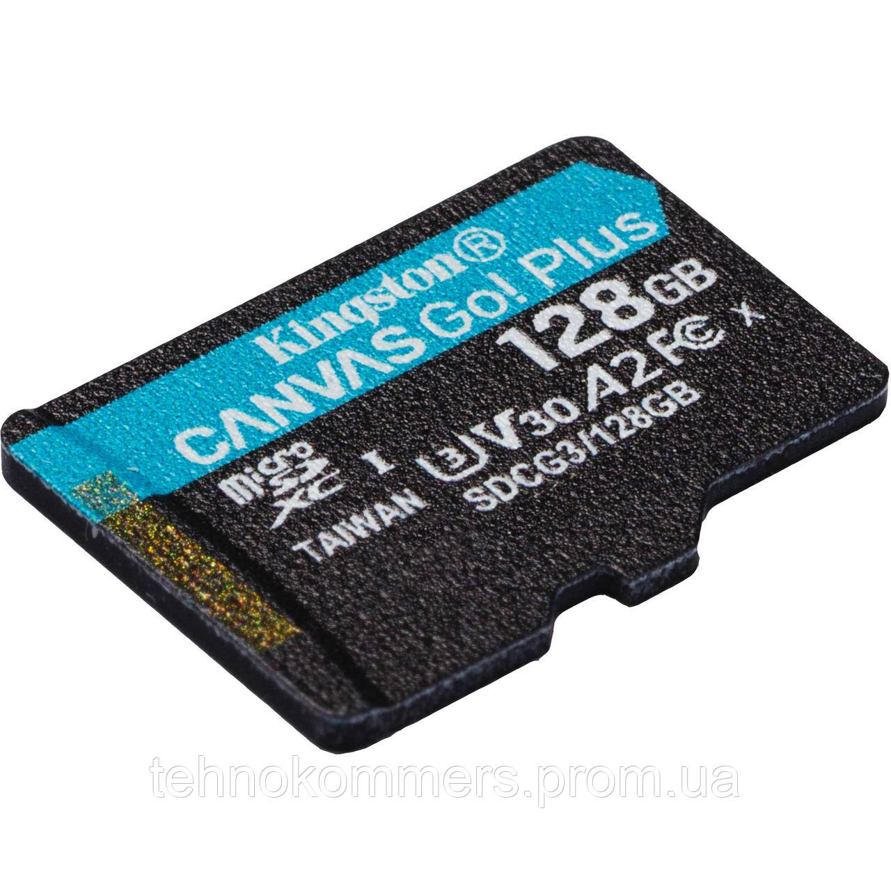 Карта пам'яті Kingston 128GB Class 10 V30 W-90MB/s Без адаптера