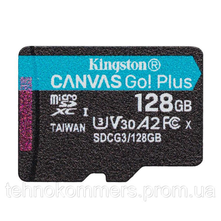 Карта пам'яті Kingston 128GB Class 10 V30 W-90MB/s Без адаптера, фото 2