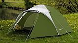 Походная двухслойная палатка 3-х местная для отдыха на природе Presto Acamper ACCO 3 PRO синий - 3000мм, фото 5