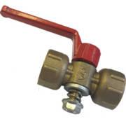 Кран под манометр. 11Б18бк Ду15 М20х1,5/G1/2 (1,6МПа) с ручкою