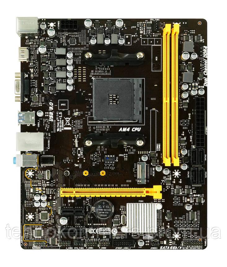 Материнська плата Biostar Socket AM4 AMD B450 MicroATX 1 x PCI-E 3.0 x16 2 x DDR4 DIMM; Кількість каналів 2, фото 2