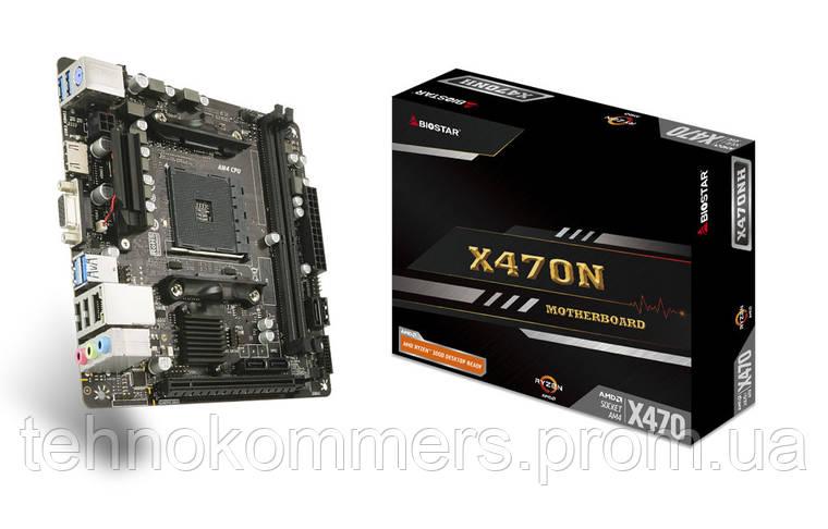 Материнська плата Biostar Socket AM4 AMD X470 MiniITX 1 x PCI-E 3.0 x16 2 x DDR4 DIMM; Кількість каналів 2, фото 2