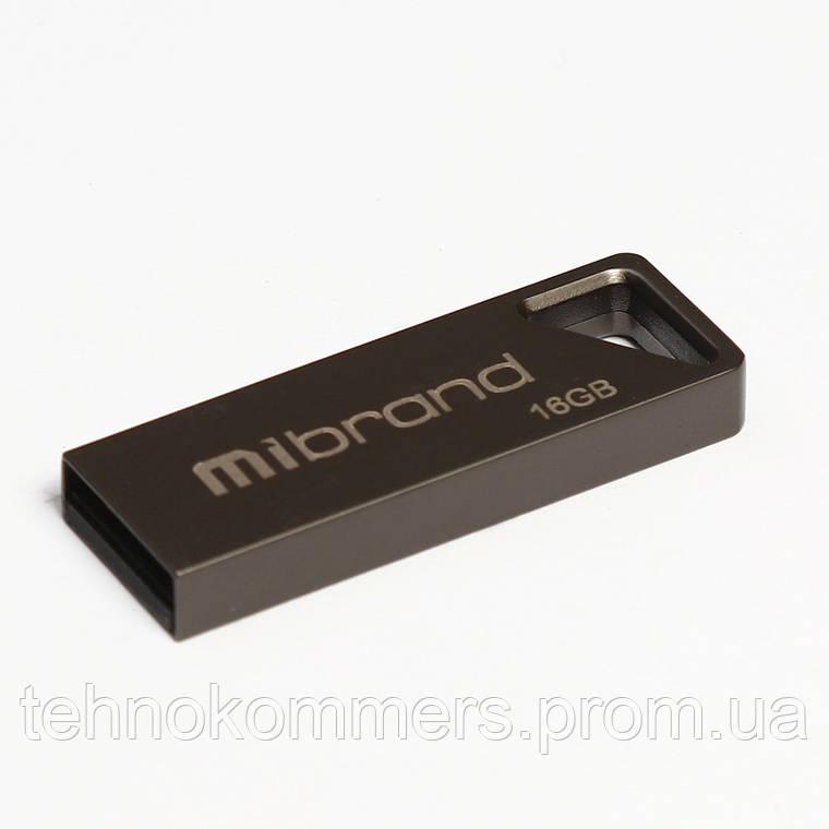 Флеш-накопичувач Mibrand USB2.0 Stingray 16GB Grey, фото 2