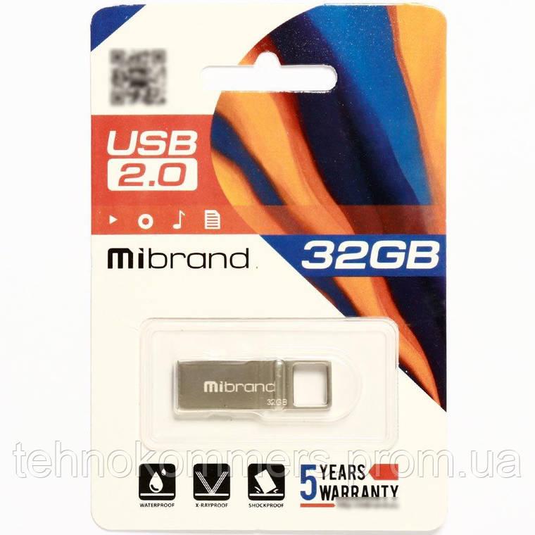Флеш-накопичувач Mibrand USB2.0 Shark 32GB Silver, фото 2