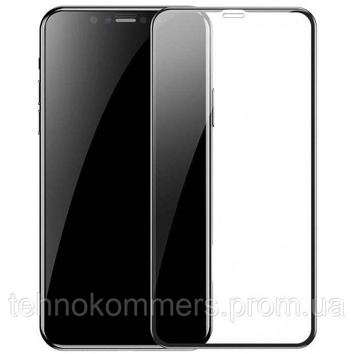 Захисне скло Baseus 0.23 mm curved-screen iP XS Max 6.5 inch Black, фото 2