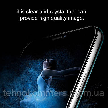 Захисне скло Baseus 0.23 mm curved-screen iP XS Max 6.5 inch Black, фото 3