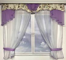 Занавески на окна | Тюль с ламбрекеном 200*1'80см