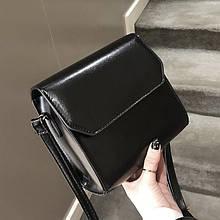 Женская классическая квадратная сумочка на ремешке 5223/14 черная