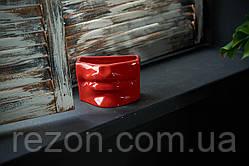 """Горшок керамический кашпо для цветов """"Губи"""" Красный 0.7л Rezon"""